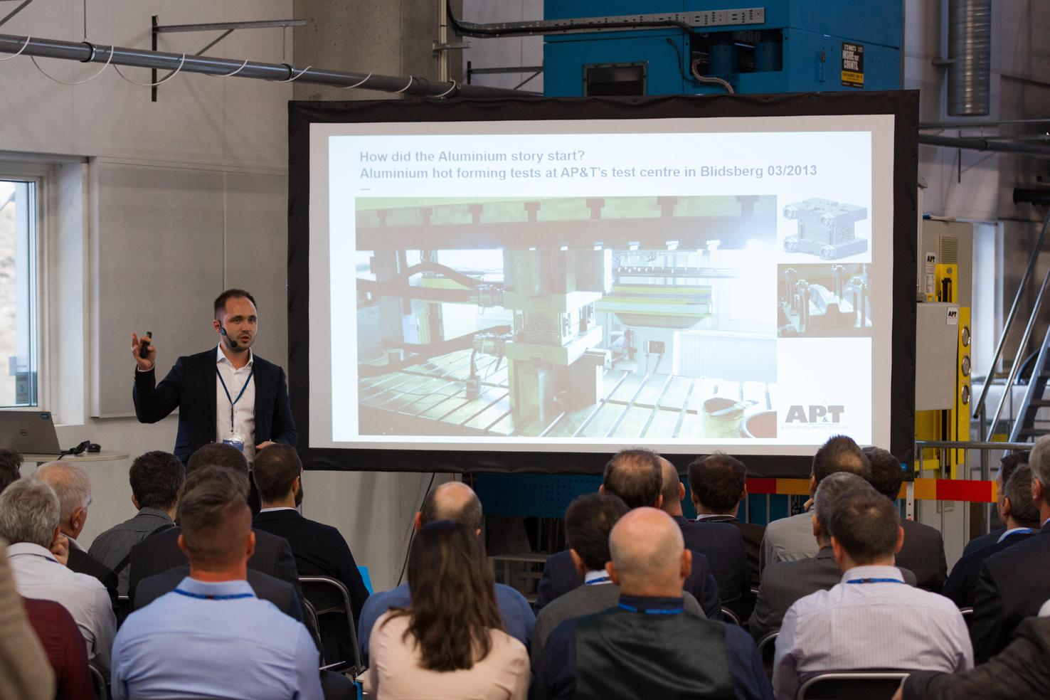 AP&T's CTO, Technology Development Christian Koroschetz presented the opportunities enabled by AP&T's process technology for forming high-strength aluminum.