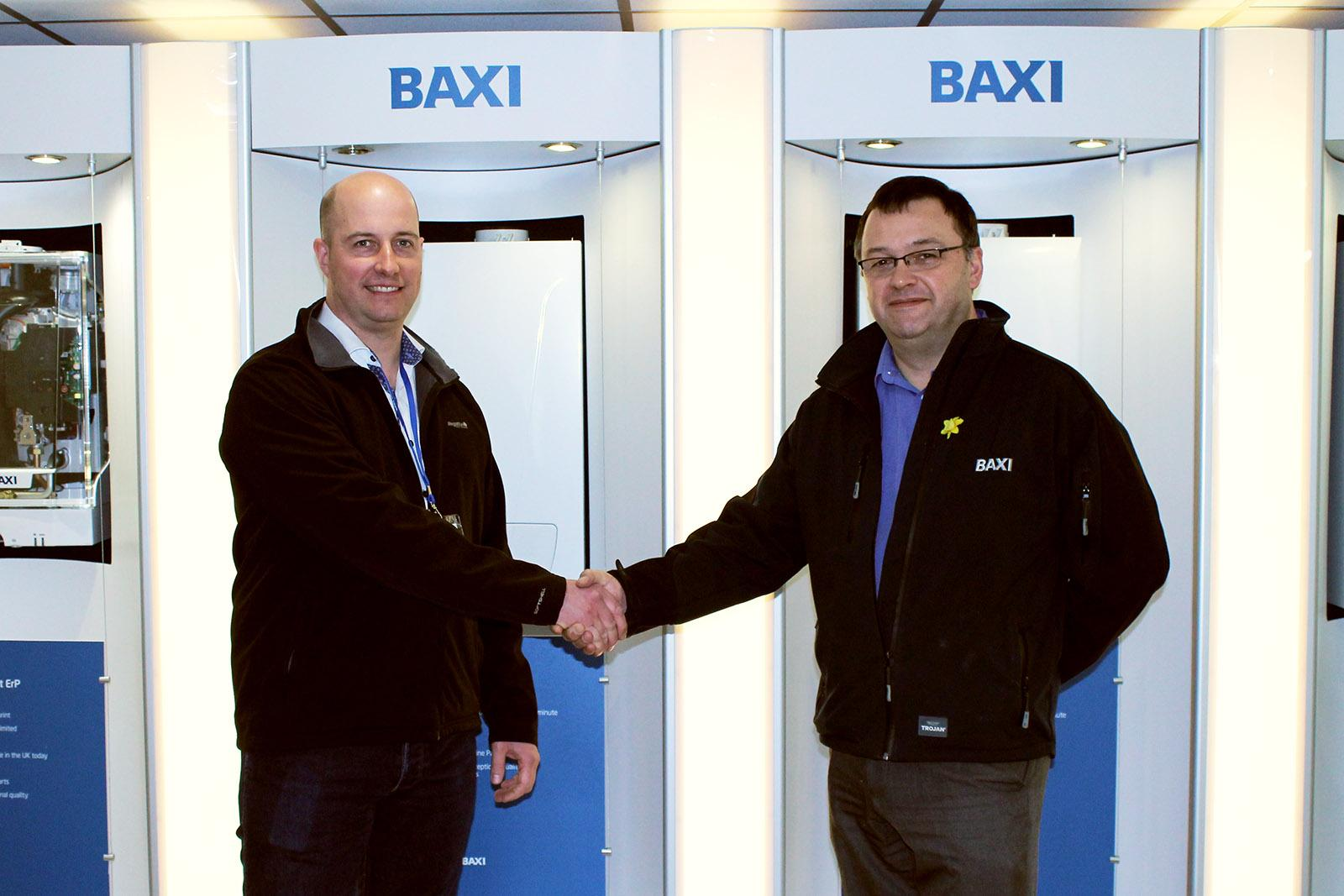 Christian Wright, Sales and Service Manager at AP&T together with Paul Clayton, Baxi Engineering Support.