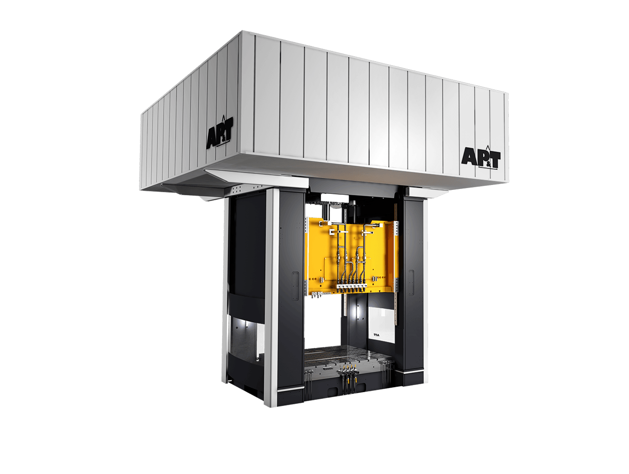 AP&T's servo hydraulic press is not only quicker and more energy efficient than conventional hydraulic presses, it is also a powerful alternative to servo mechanical presses.