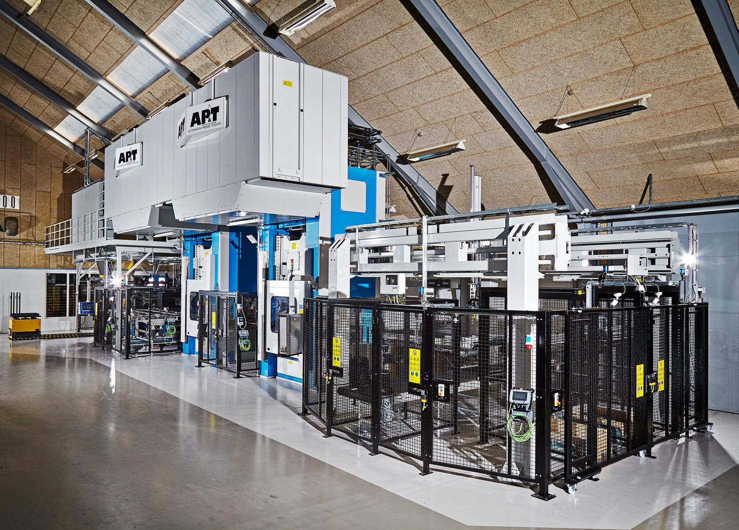 CK Deep Drawing's new fully automated two-press line from AP&T.