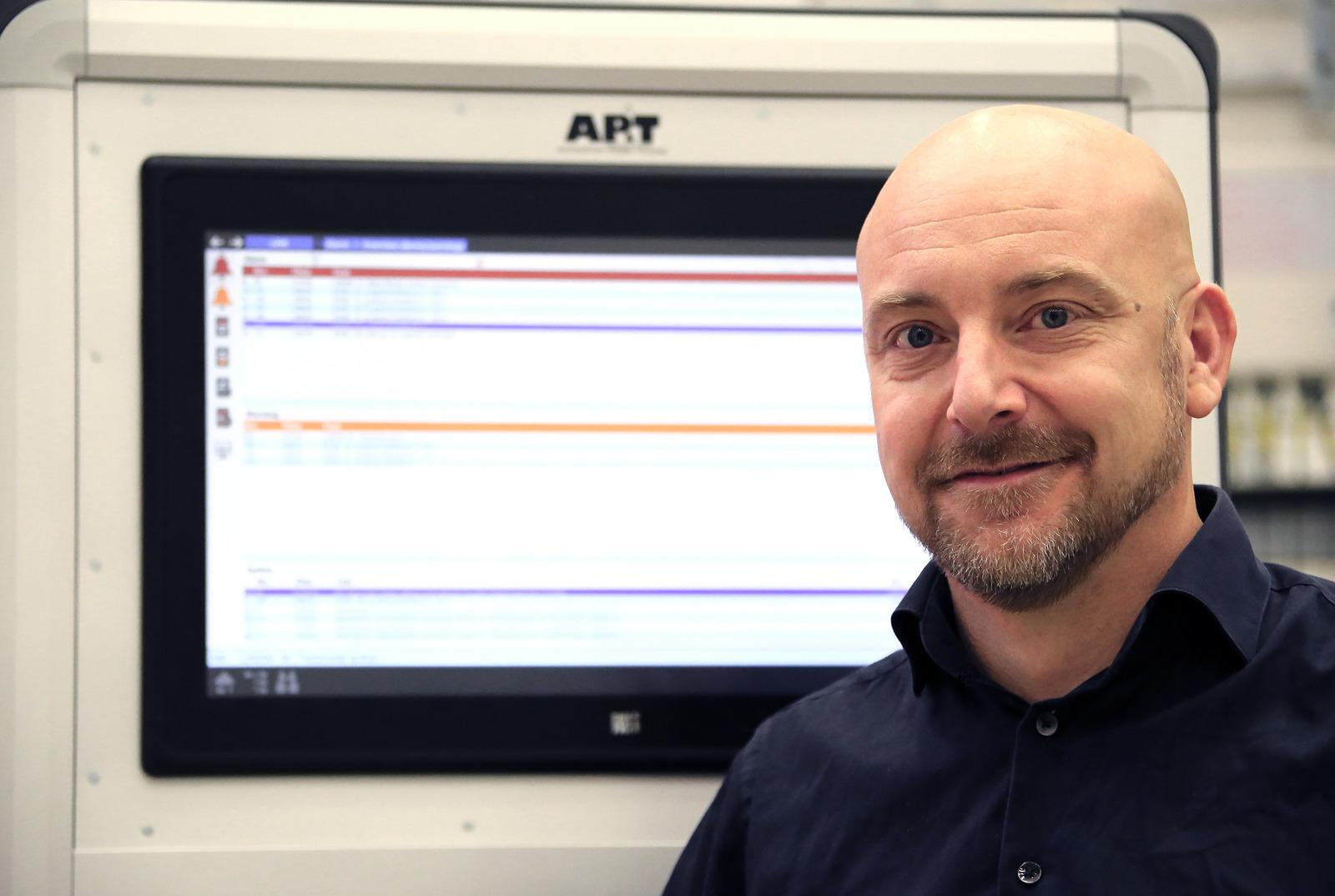 """Remotely connecting machines to AP&T's technical support is a simple means for customers to prevent operational disruptions and to ensure a high level of availability,"" says Mats Kinnby, Head of Global Technical Support at AP&T."